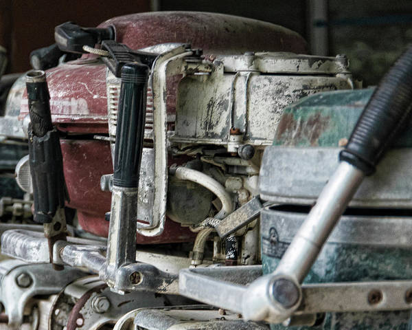 Outboard Engine Photograph - Fisherman's Friends by Adam Reinhart