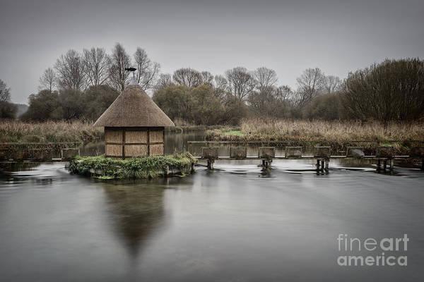 Angling Art Photograph - Fishermans Hut Repaired  by Richard Thomas