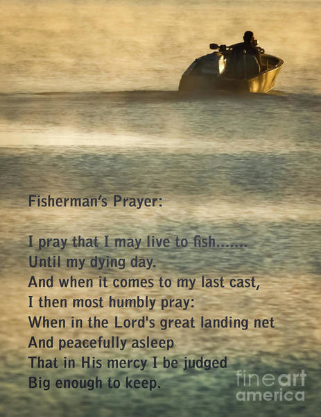 Nebraska Photograph - Fisherman's Prayer by Robert Frederick