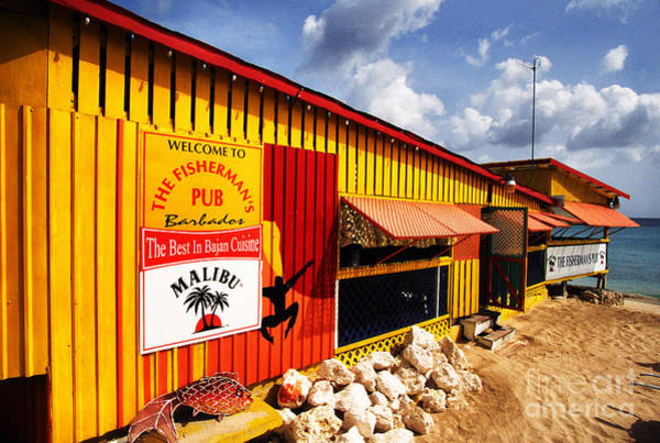 Photograph - Fishermans Pub Speightstown by Thomas R Fletcher