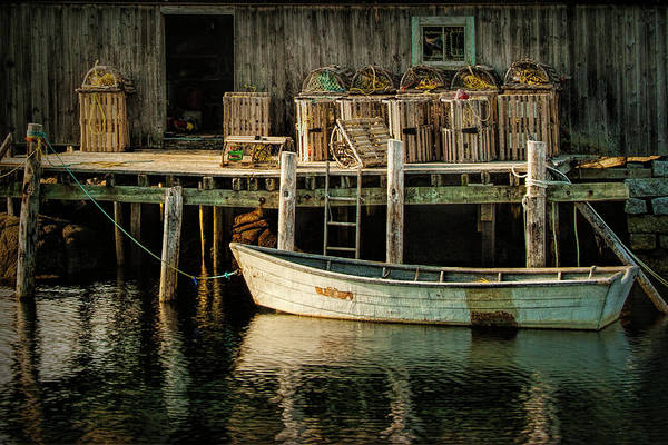 Photograph - Fisherman's Wharf At Peggy's Cove by Randall Nyhof