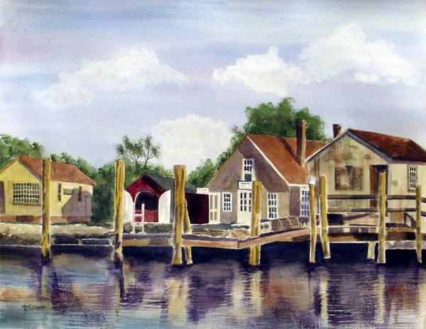 Wall Art - Painting - Fisherman's Wharf by Marsha Elliott