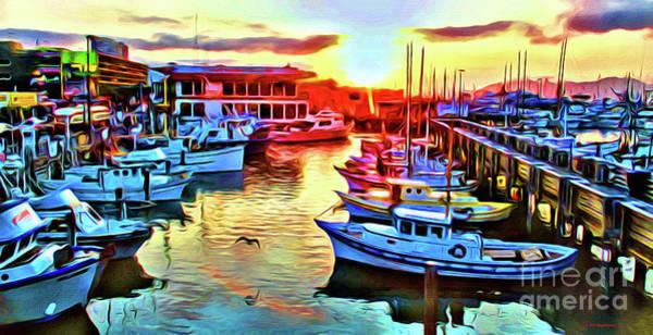 Wall Art - Photograph - Fisherman's Wharf Sunset by Jerome Stumphauzer