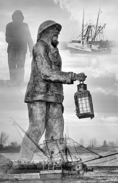 Wall Art - Photograph - Fishermen - Jersey Shore by Angie Tirado