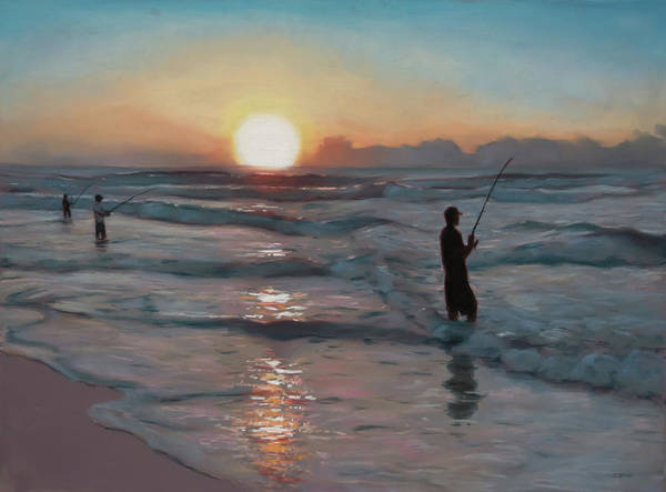 Painting - Fishermen At Sunrise by Christopher Reid