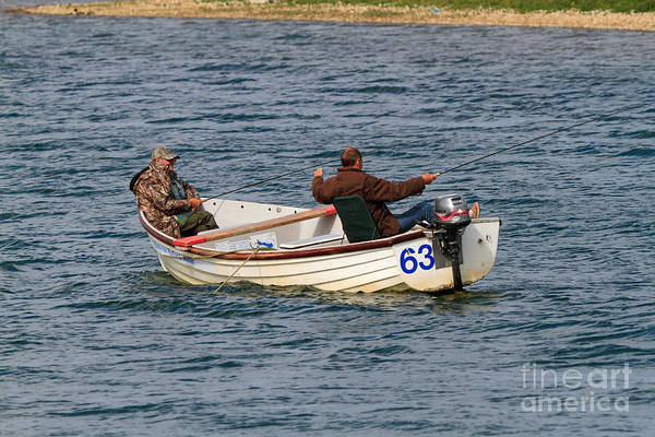 Rutland Photograph - Fishermen In A Boat by Louise Heusinkveld