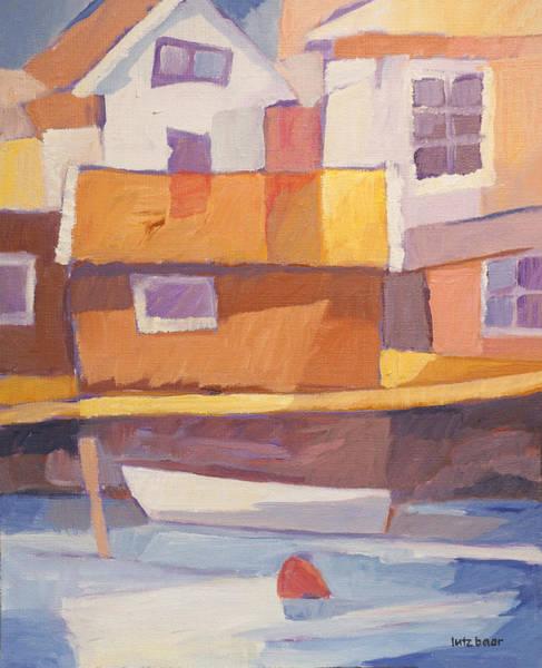 Painting - Fishermen Village by Lutz Baar
