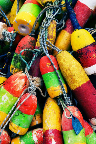 Photograph - Fishermen's Floats by Renee Hong