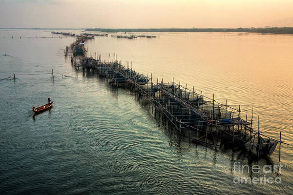 Fisher Island Photograph - Fishery In The Morning by Buchachon Petthanya