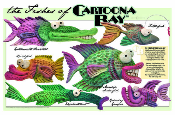 Digital Art - Fishes Of Cartoona Bay Poster by Tim Nyberg