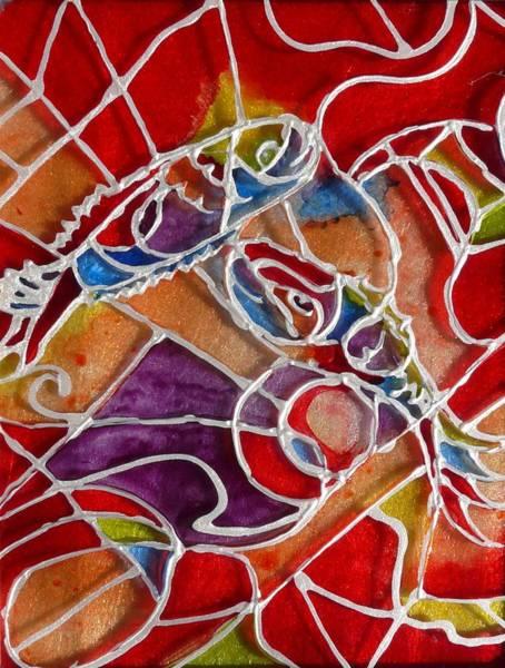 Vitrage Wall Art - Painting - Fishes Vitrage by Sandrine Kespi