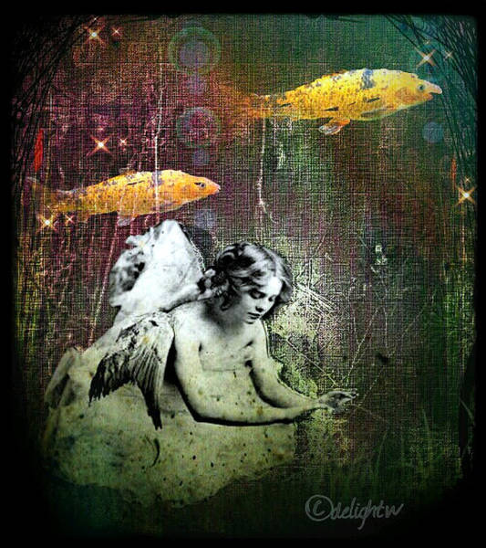 Fishes Wings Art Print