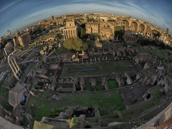 Photograph - Fisheye On High - The Roman Forum by Stephen Barrie