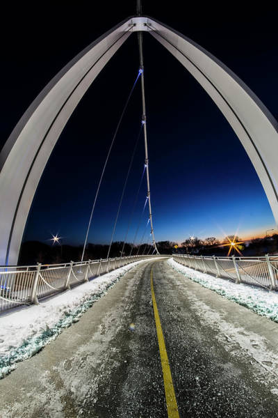 Photograph - Fisheye View Of The 35th Street Bridge by Sven Brogren