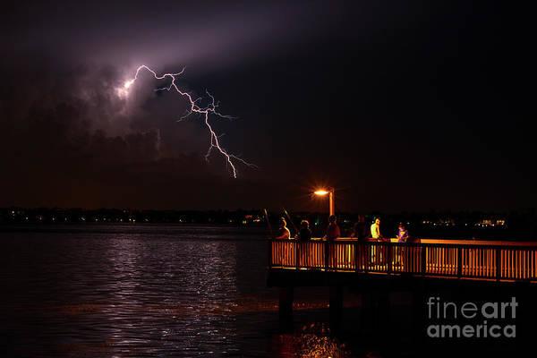Lightning Strike Photograph - Fishin by Quinn Sedam