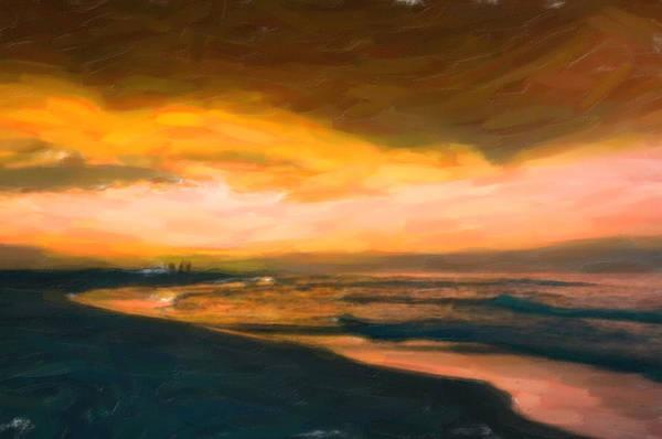 Painting - Fishing At Dusk by Adam Asar