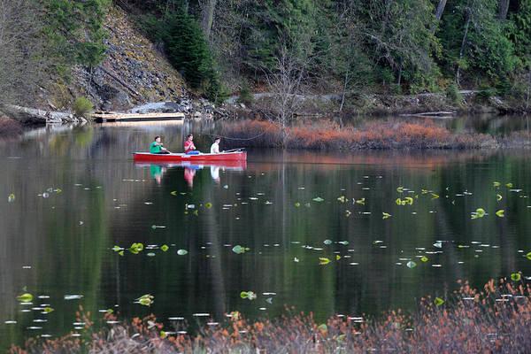 Photograph - Fishing At One Mile Lake Pemberton by Pierre Leclerc Photography