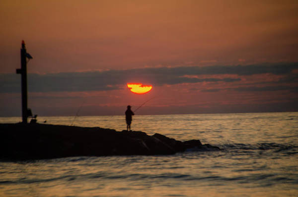 Photograph - Fishing At Sunrise - Avalon New Jersey by Bill Cannon