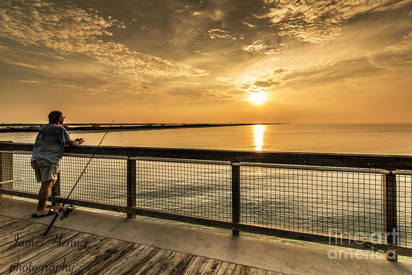 Photograph - Fishing At Sunrise by James Hennis