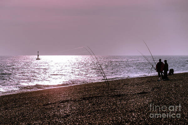 Photograph - Fishing At Sunset, Dungeness Beach by Perry Rodriguez