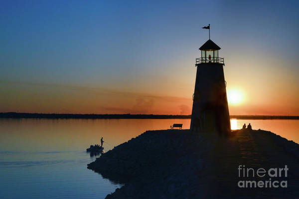 Photograph - Fishing At The Lighthouse by Paul Quinn