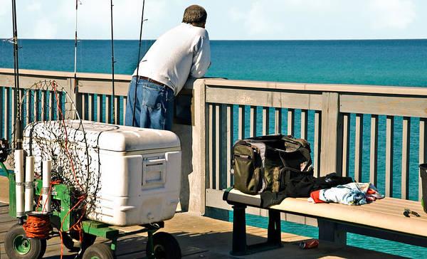 Fishing At The Pier Art Print