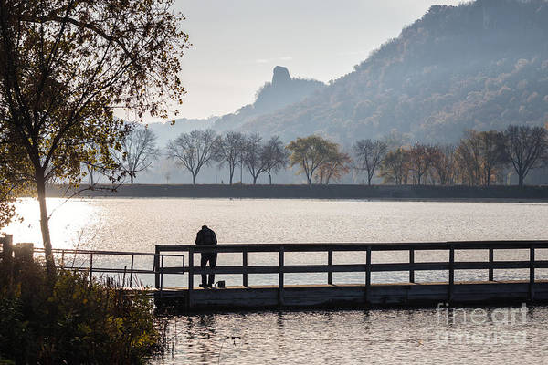 Photograph - Fishing At West Lake Winona by Kari Yearous