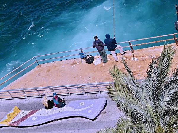 Arte Photograph - Fishing Blue Beirut  by Funkpix Photo Hunter