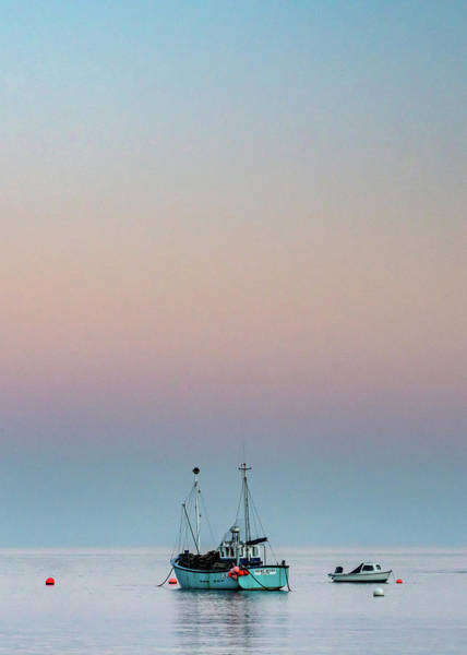 Photograph - Fishing Boat At Dusk Portrait by Framing Places