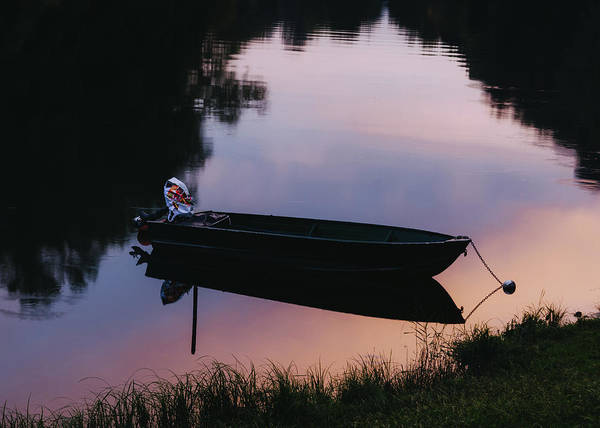 Photograph - Fishing Boat At Sunset by Alexandre Rotenberg