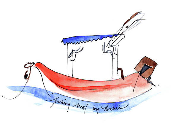 Painting - Fishing Boat By Bahia by Anna Elkins