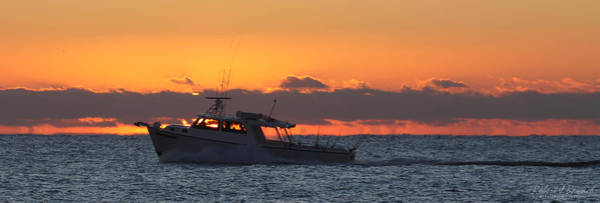 Photograph - Fishing Boat Captain Silhouette by Robert Banach
