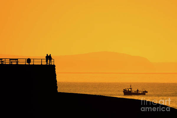 Photograph - Fishing Boat Coming Home At Dusk by Keith Morris