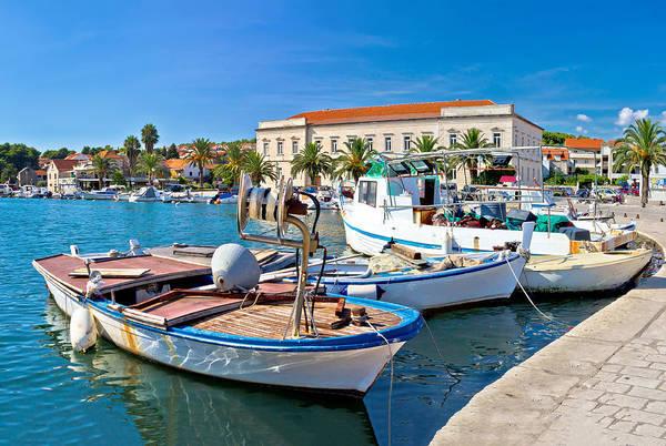 Starigrad Photograph - Fishing Boat In Stari Grad Harbor by Brch Photography