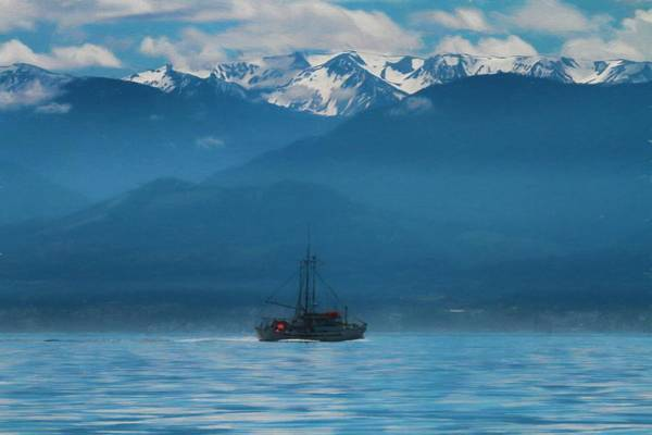 Painting - Fishing Boat Off The Coast Of Vancouver by Dan Sproul