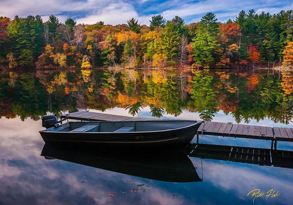 Photograph - Fishing Boat On Mirror Lake by Rikk Flohr