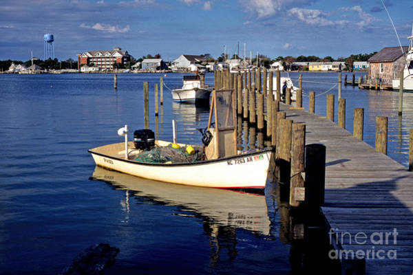 Photograph - Fishing Boats At Dock Ocracoke Village by Thomas R Fletcher