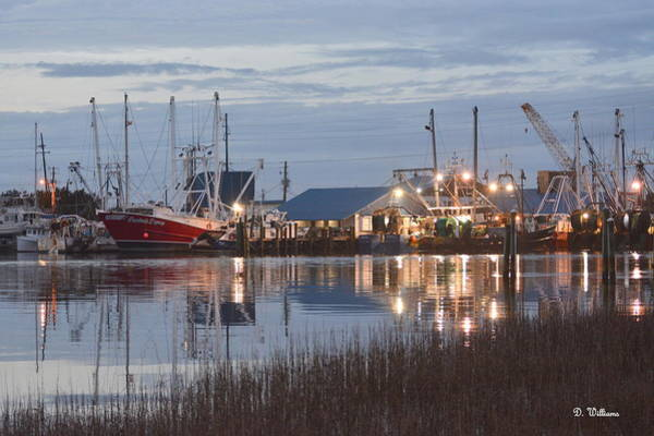 Photograph - Fishing Boats At Dusk by Dan Williams