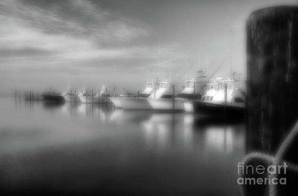 Wall Art - Photograph - Fishing Boats At Oregon Inlet Outer Banks Bw by Dan Carmichael