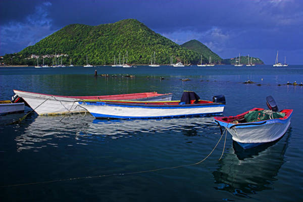 Wall Art - Photograph - Fishing Boats At Sunrise- St Lucia by Chester Williams