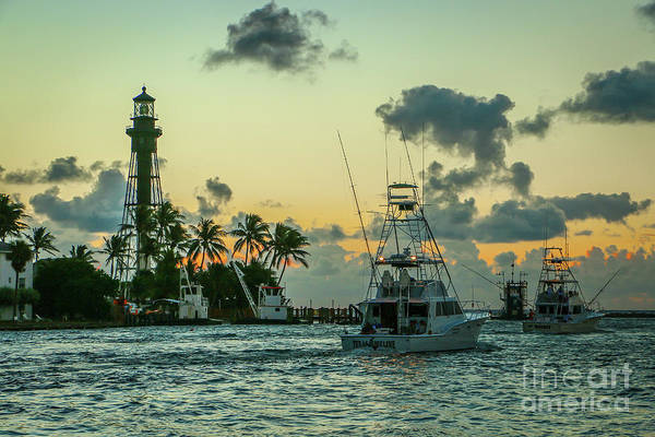 Photograph - Fishing Boats Heading Out by Tom Claud