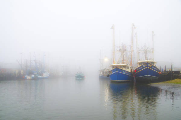 Wall Art - Photograph - Fishing Boats In A Foggy Harbor by Bill Cannon