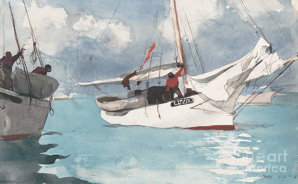West Bay Painting - Fishing Boats, Key West, 1903 by Winslow Homer