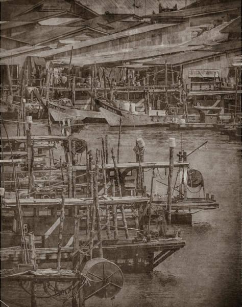 Photograph - Kuala Sepetang, Malaysia - Fishing Boats Of Kuala Sepetang, Silverplate by Mark Forte