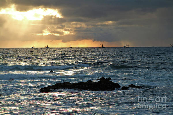 Photograph - Fishing Boats Off Point Lobos by Charlene Mitchell