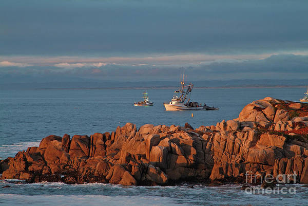 Photograph - Fishing Boats On Monterey Bay by Charlene Mitchell