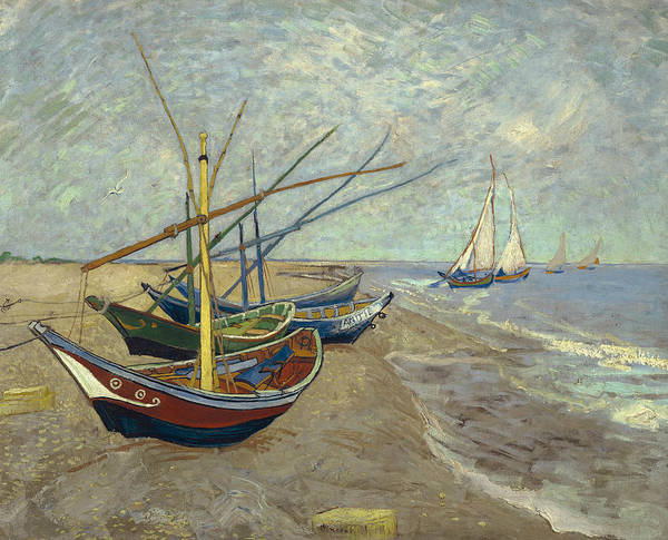 Painting - Fishing Boats On The Beach At Les Saintes Maries De La Mer by Vincent van Gogh