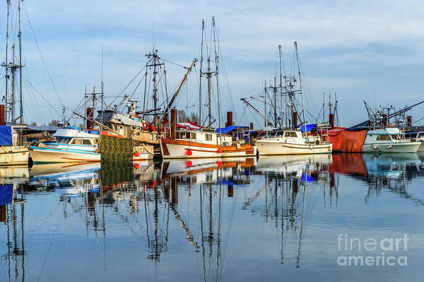 Evening Wall Art - Photograph - Fishing Boats On The Dock And Their Reflection by Viktor Birkus