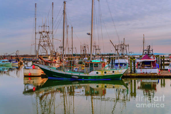 Evening Wall Art - Photograph - Fishing Boats On The Dock In The Summer Evening by Viktor Birkus