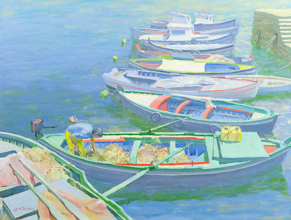 Boats Wall Art - Painting - Fishing Boats by William Ireland